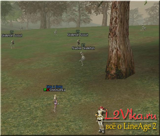 Tracker Skeleton, Skeleton Scout и Tracker Skeleton Leader - Квест на первую профессию для Тэмпл Кнайта и Сворд Сингера Path to an Elven Knight - L2Vika.ru
