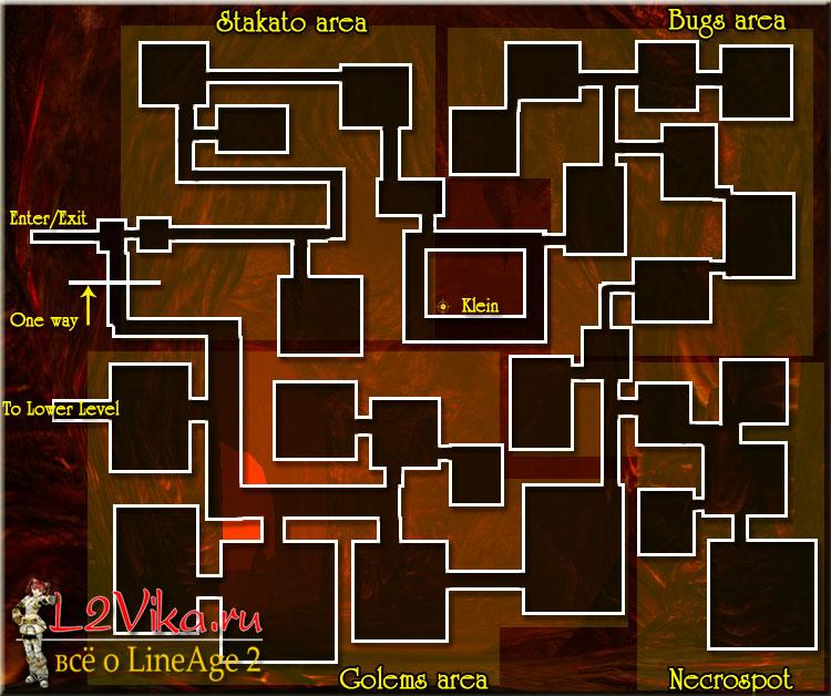 Forge of the Gods map Upper level - карта Кузня Богов верхний уровень - L2Vika.ru