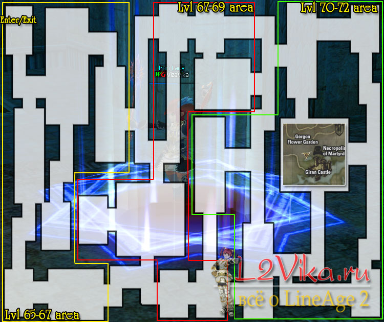Necropolis of Martyrdom map - карта Некрополь Мартидом - Мартиры - L2Vika.ru