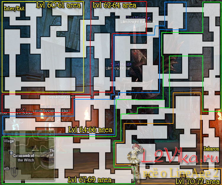 Catacomb of the Witch map - карта Катакомбы Ведьм - Каты Витчи - L2Vika.ru