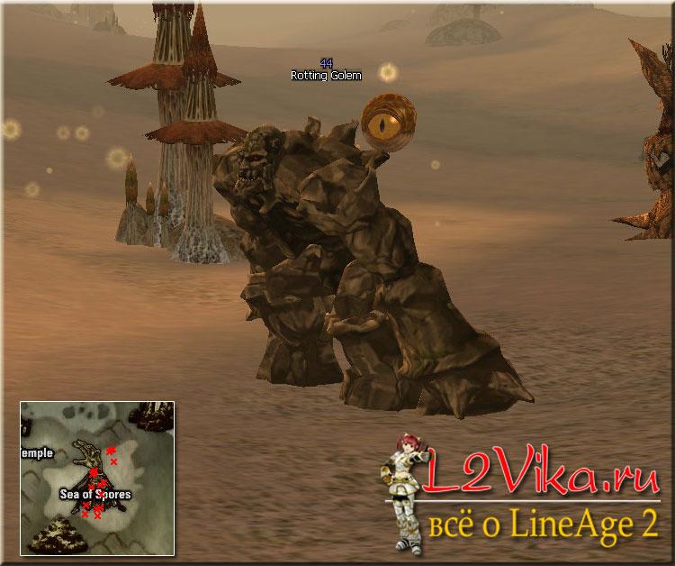 Rotting Golem - Lvl 44 - L2Vika.ru