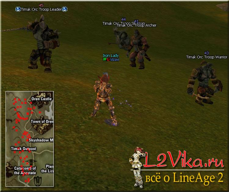Timak Orc Troop Warrior - Lvl 43 - L2Vika.ru
