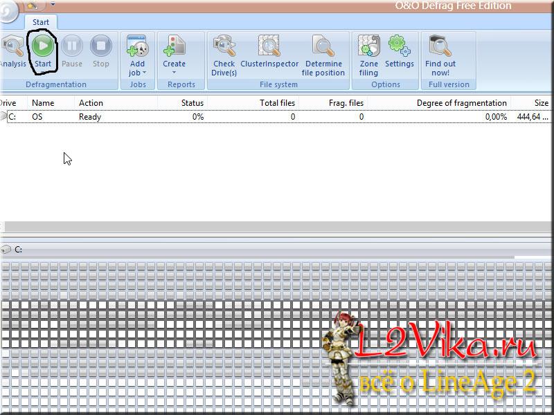 defrag free edition - Первичная оптимизация компьютера под игру Lineage 2 - L2Vika.ru