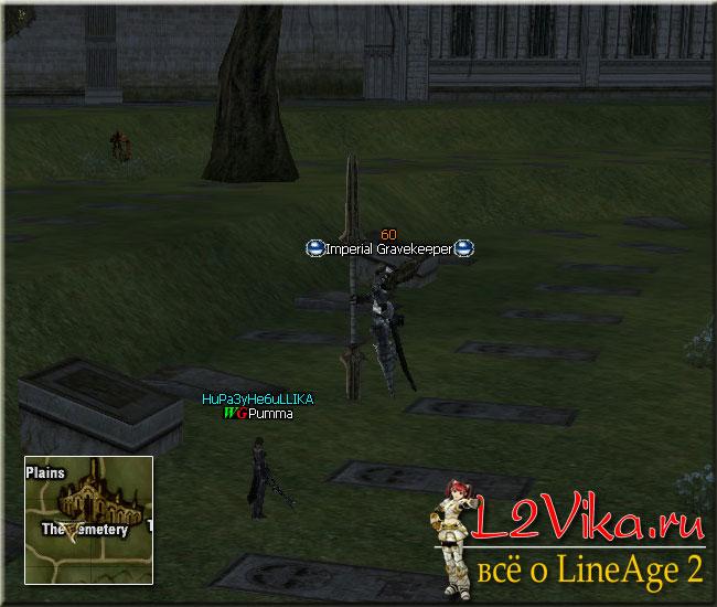 квест на 5-й левел клана - Imperial Grave Keeper